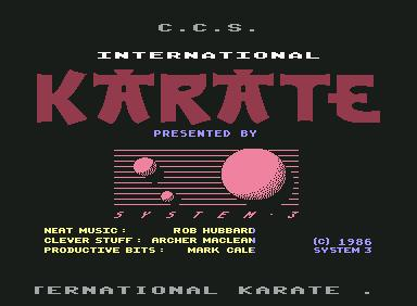 International Karate - C64 Game