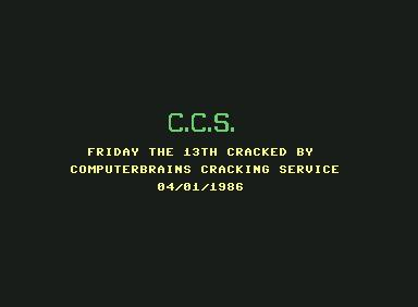 Friday the 13th - C64 Game