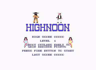 Highnoon - C64 Game