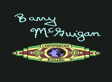World Championship Boxing - C64 Game